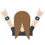Finnish Emoji Headbanger