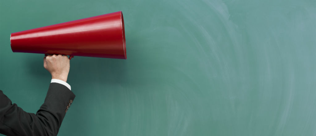 megaphone speeches speaking communication work office influence