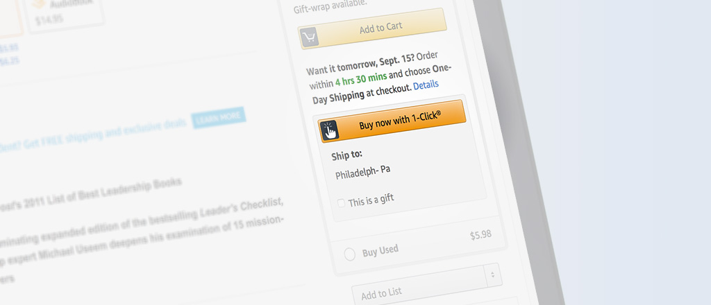 Why Amazon's '1-Click' Ordering Was a Game Changer