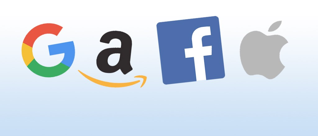 Image result for public domain image of Google, Amazon, Facebook and Apple
