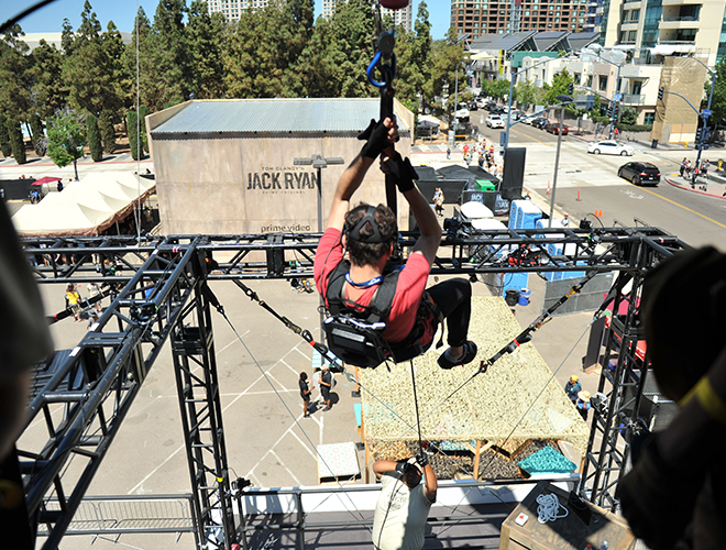 Jack-Ryan-Training-Helicopter-Jump-SDCC-2018-photo-by-Kendall-Whitehouse-660x500
